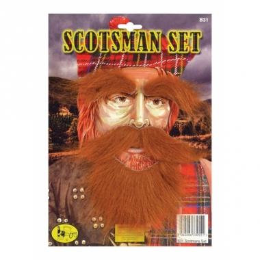 Rode snor, baard en wenkbrouwen
