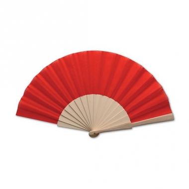 Rode spaanse waaier 42 x 23 cm