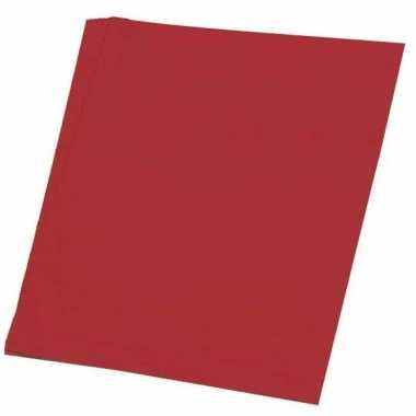Rode vellen karton 48x68 cm