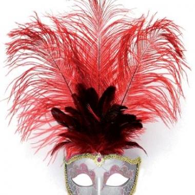 Rode venetiaanse oog maskers