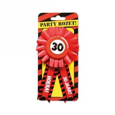 Rode verjaardagsrozet 30 jaar