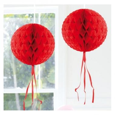 Rode versiering bol 30 cm