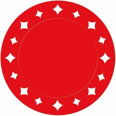 Rode versiering placemats 33 cm