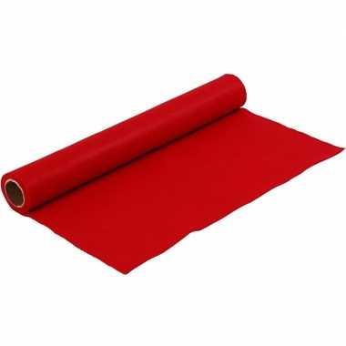 Rode vilten onderlegger 1,5 mm dik