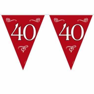 Rode vlaggenlijn 40 10 meter