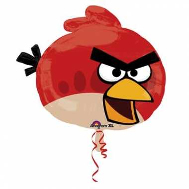 Rode vogel angry birds folie ballon gevuld