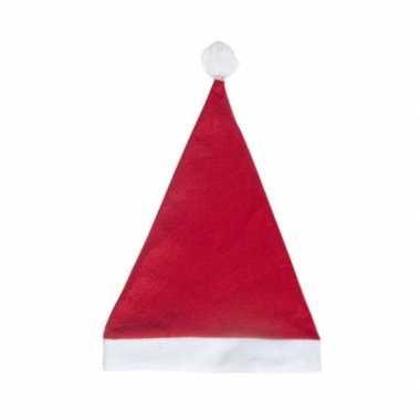 Rode voordelige kerstmuts voor volwassenen
