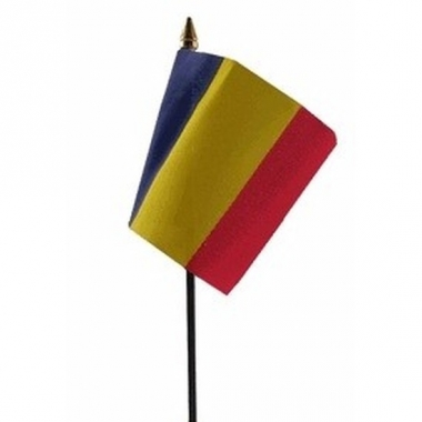 Roemeense landenvlag op stokje