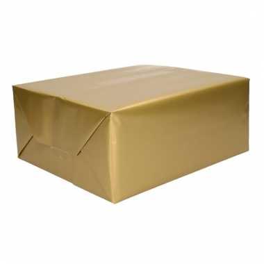 Rol cadeaupapier goud 70 x 200 cm