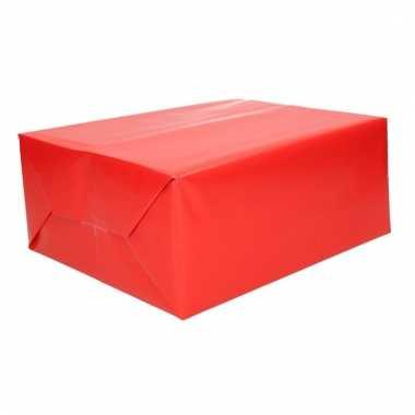 Rol cadeaupapier rood 70 x 200 cm