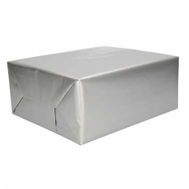 Rol cadeaupapier zilver 70 x 200 cm