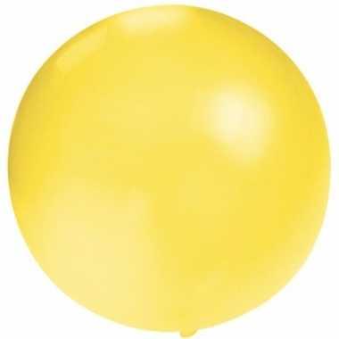 Ronde ballon geel 60 cm voor helium of lucht