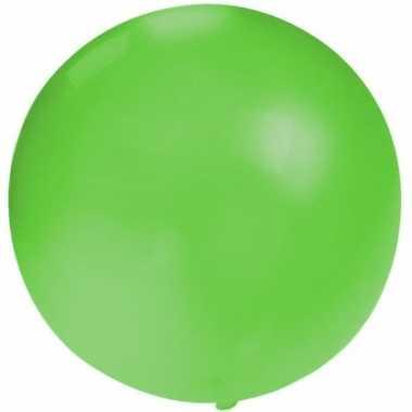 Ronde ballon groen 60 cm voor helium of lucht