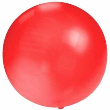 Ronde ballon rood 60 cm voor helium of lucht