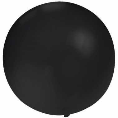 Ronde ballon zwart 60 cm voor helium of lucht