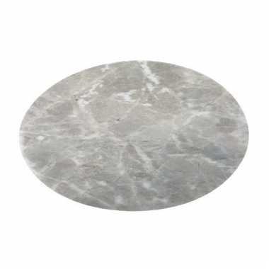 Ronde placemat marmer grijs 38 cm
