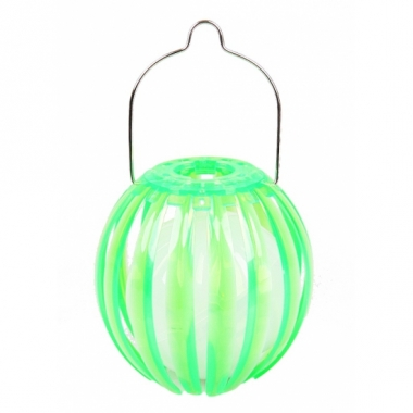 Ronde solar lantaarn groen 11 cm