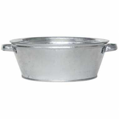 Ronde zilveren drankemmer/drankkoeler 9 liter