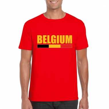 Rood belgium supporter shirt heren
