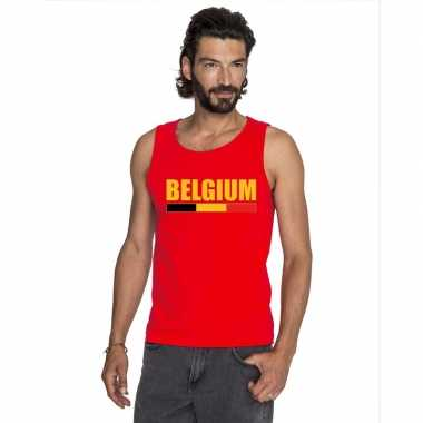Rood belgium supporter singlet shirt/ tanktop heren