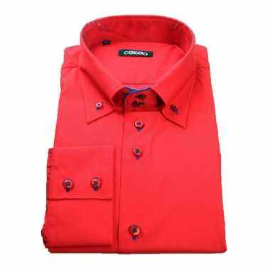 Rood business overhemd giovanni capraro