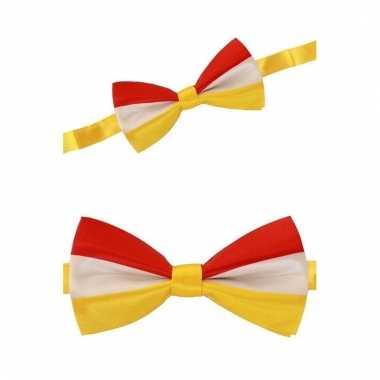 Rood/geel/wit gekleurde strik