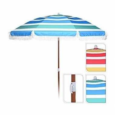 Rood/geel/witte parasol 180 cm