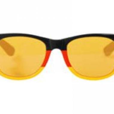 Rood, geel, zwarte feest brillen
