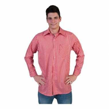 Rood geruit shirt voor heren