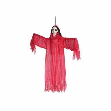 Rood hangend dames spook 91 x 68 cm