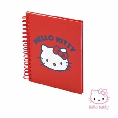 Rood hello kitty notitieboekje 80 vellen