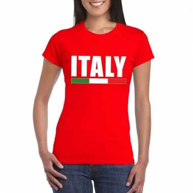 Rood italie supporter shirt dames
