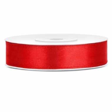 Rood kadolinten satijn 12 mm
