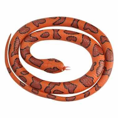 Rubberen speelgoed watermoccasin slangen 117 cm