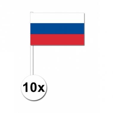 Rusland zwaai vlaggetjes 10 stuks