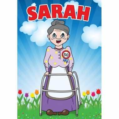 Sarah mega deur posters