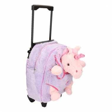 Schoolreisje koffer pluche eenhoorn 35 cm