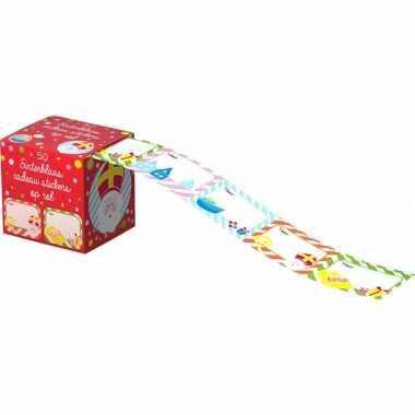 Sint en piet cadeau stickers 100 stuks