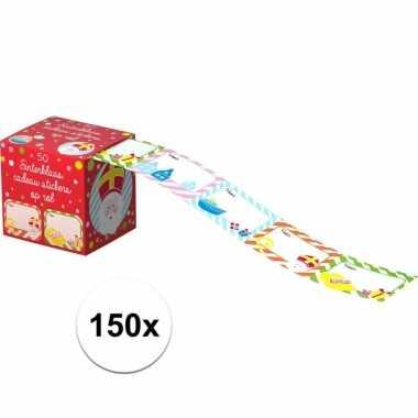Sint en piet cadeau stickers 150 stuks