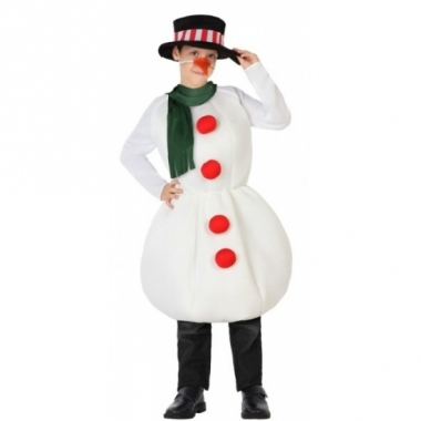 Sneeuwpop outfit voor kinderen