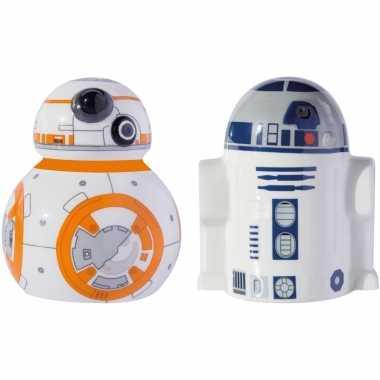 Star wars peper en zoutstel bb-8 en r2-d2 robots/droids