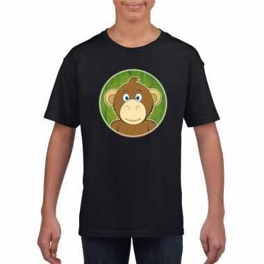 T-shirt aap zwart kinderen