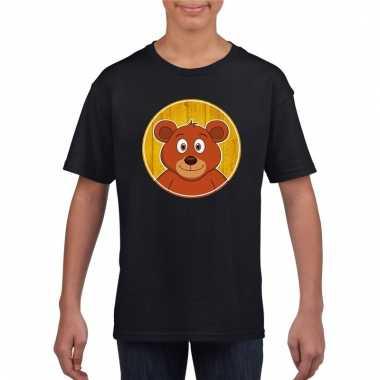 T-shirt beer zwart kinderen