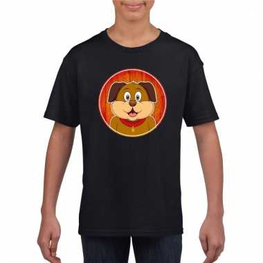T-shirt hond zwart kinderen