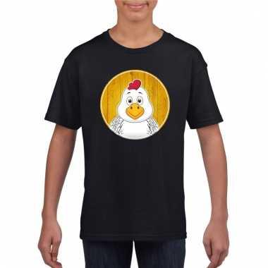 T-shirt kip zwart kinderen