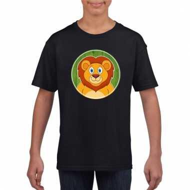 T-shirt leeuw zwart kinderen