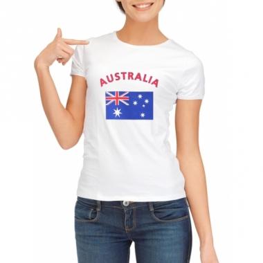 T-shirt met australische vlag print voor dames