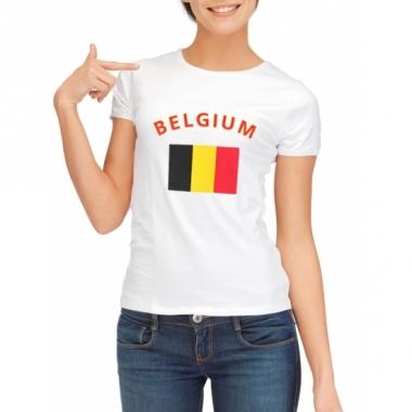 T-shirt met belgische vlag print voor dames