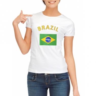 T-shirt met brazilische vlag print voor dames