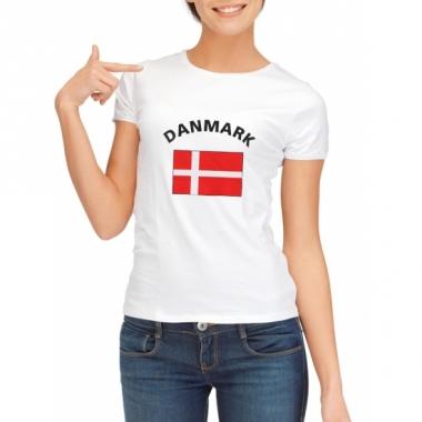 T-shirt met deense vlag print voor dames